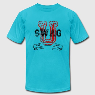 Swag University Swag University - Unisex Graphic Design College Font Graffiti Text Style  - Men's Fine Jersey T-Shirt