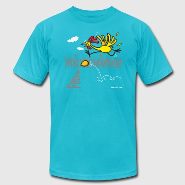 Scrambled Eggs White Chicken and Egg: scrambled forever? Long Sleeve Shirts - Men's Fine Jersey T-Shirt