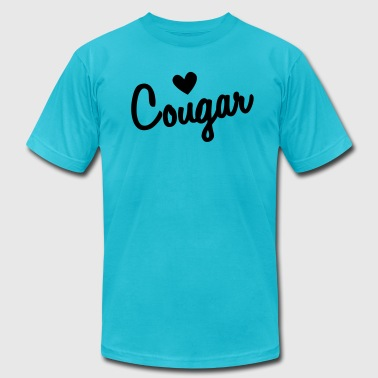 Loving Cougars LOVE COUGAR - Men's Fine Jersey T-Shirt