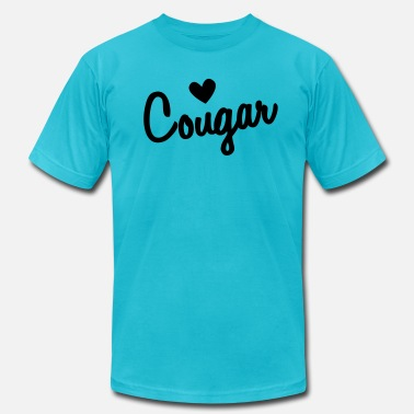 Cougar Love LOVE COUGAR - Men's  Jersey T-Shirt