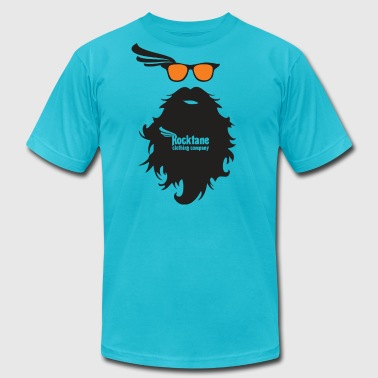Beard & Orange Glasses by Rocktane Clothing - Men's Fine Jersey T-Shirt