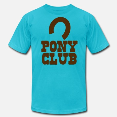 Pony Club PONY CLUB with horseshoe - Men's  Jersey T-Shirt