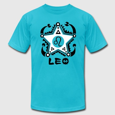 Leo Zodiac Sign Art - Men's Fine Jersey T-Shirt