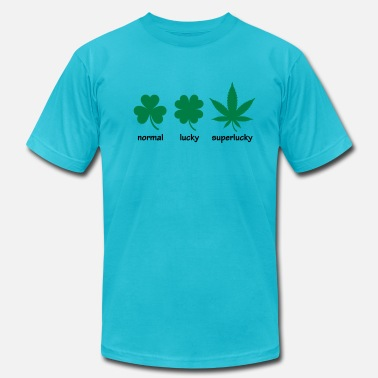 Hemp Superlucky Hemp Leaf - Men's  Jersey T-Shirt