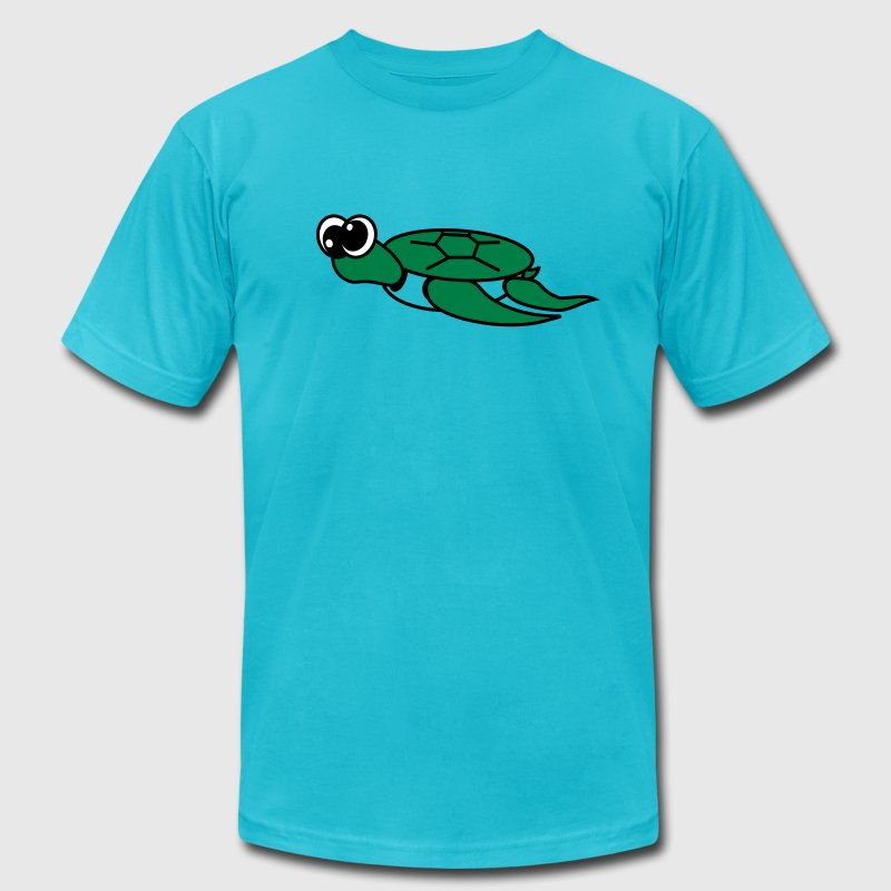 Timmy the Turtle  By VOM Design - virtualONmars - Men's Fine Jersey T-Shirt
