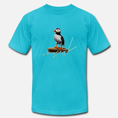 Puffin On A Roach - Men's  Jersey T-Shirt