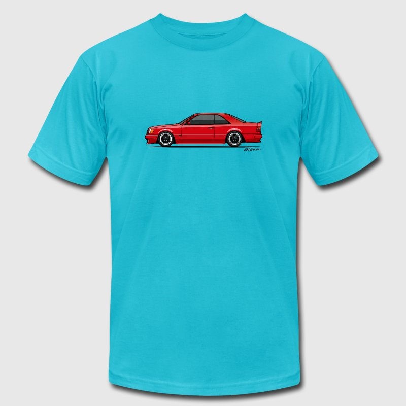 Mercedes W124 300CE AMG Red - Men's Fine Jersey T-Shirt