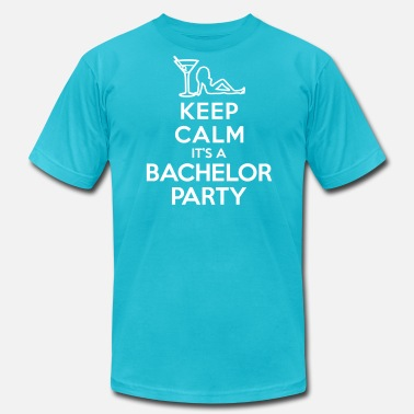Keep Calm Bachelor Party Keep calm It's a bachelor party - Men's Jersey T-Shirt