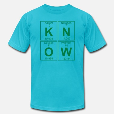 Kalium K-N-O-W (know) - Full - Men's  Jersey T-Shirt