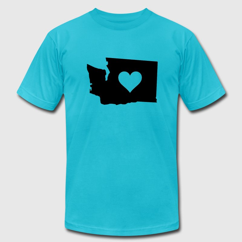 Washington State heart black - Men's Fine Jersey T-Shirt