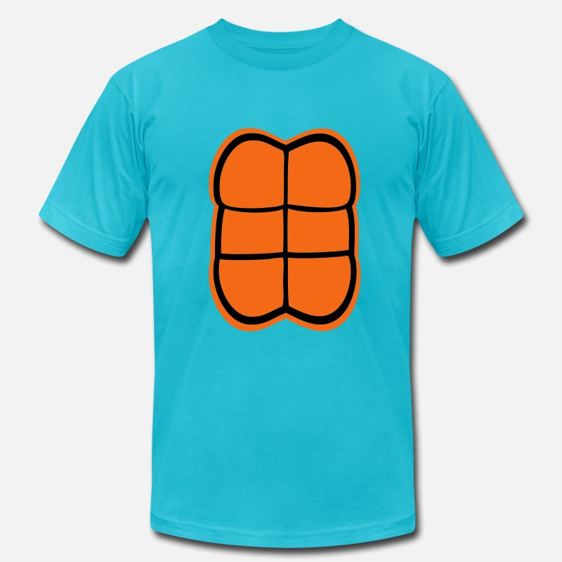 Halloween T-Shirts - Turtle Back - Men's Jersey T-Shirt turquoise