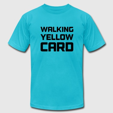 Walking Yellow Card Toddler Tee - Men's Fine Jersey T-Shirt