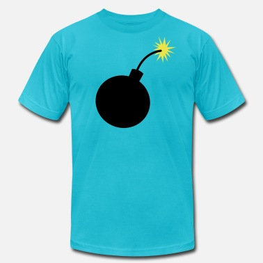 Breast Lit simple bomb - Men's  Jersey T-Shirt