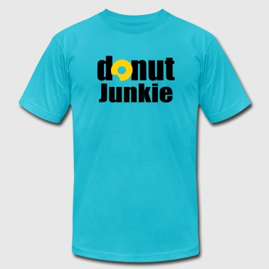 Ring Donuts Donut Junkie - Men's Fine Jersey T-Shirt