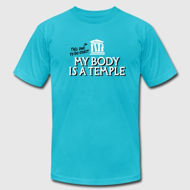 My body is a temple 2c - Men's Fine Jersey T-Shirt