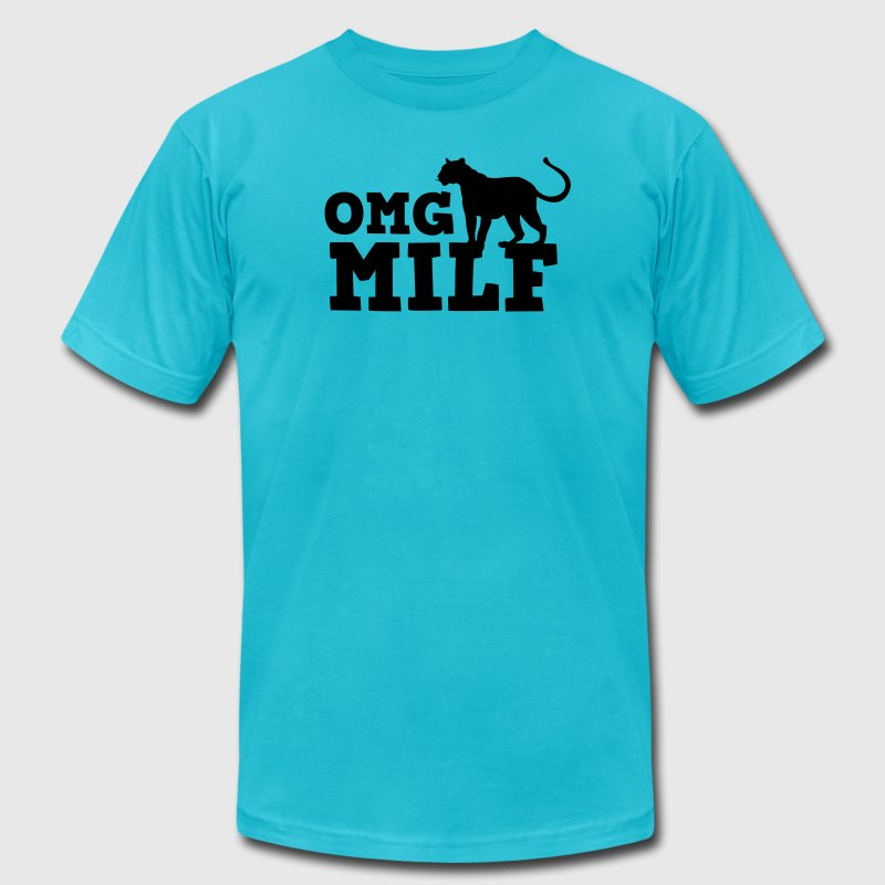 OMG MILF with cougar - Men's Fine Jersey T-Shirt