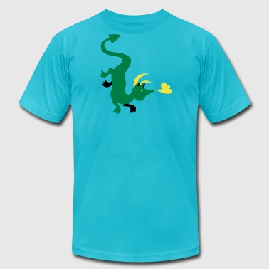 Fly Down fantasy dragon flying down the shirt - Men's Fine Jersey T-Shirt