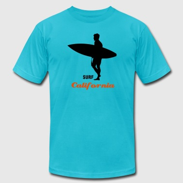 Surf Hawaii or surf the interent - Men's Fine Jersey T-Shirt