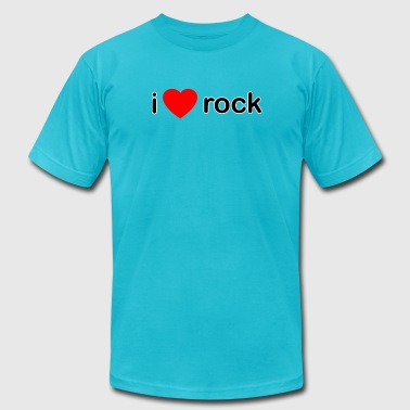 I Love Rock DJ - Men's Fine Jersey T-Shirt