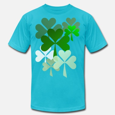 Faded Green Faded Shamrocks - Men's  Jersey T-Shirt