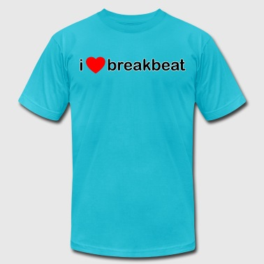 I Love Breakbeat DJ - Men's Fine Jersey T-Shirt