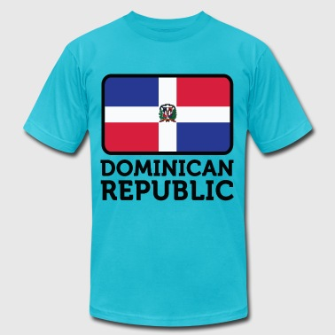 Flag Dominican Republic 2 (dd)++ - Men's Fine Jersey T-Shirt
