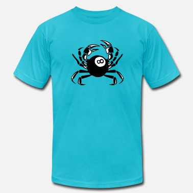 The Billiard Club crab billiards club logo - Men's  Jersey T-Shirt