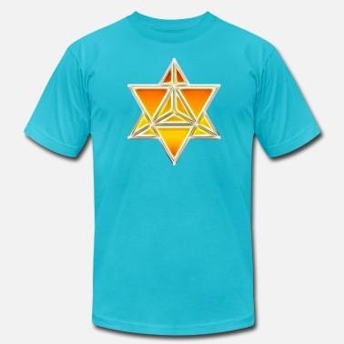 Metatrons Merkaba, spirituality, sacred geometry, light - Men's  Jersey T-Shirt