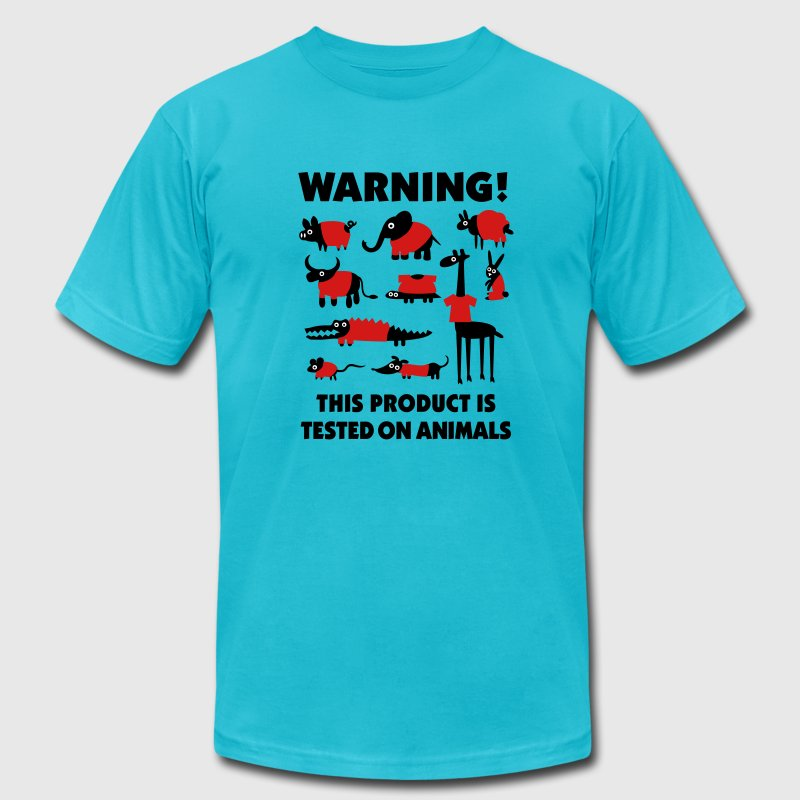 Warning! This product is tested on animals 3clr - Men's Fine Jersey T-Shirt