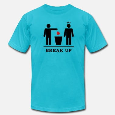 Gay Recycle Break up - Broken Heart Boys 2c - Men's  Jersey T-Shirt