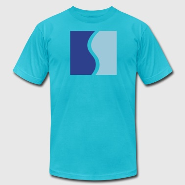 Square Wave simple square with a wave - Men's Fine Jersey T-Shirt
