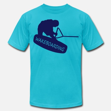 Wakeboard wakeboarding - Men's  Jersey T-Shirt