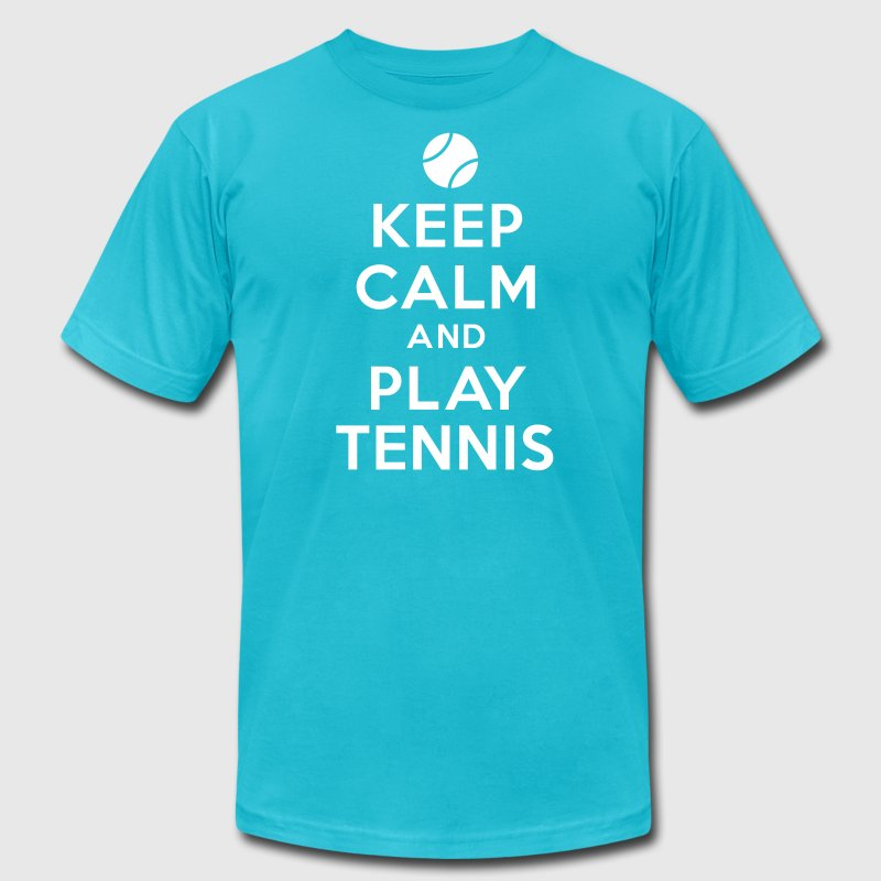 Keep calm and play tennis - Men's Fine Jersey T-Shirt