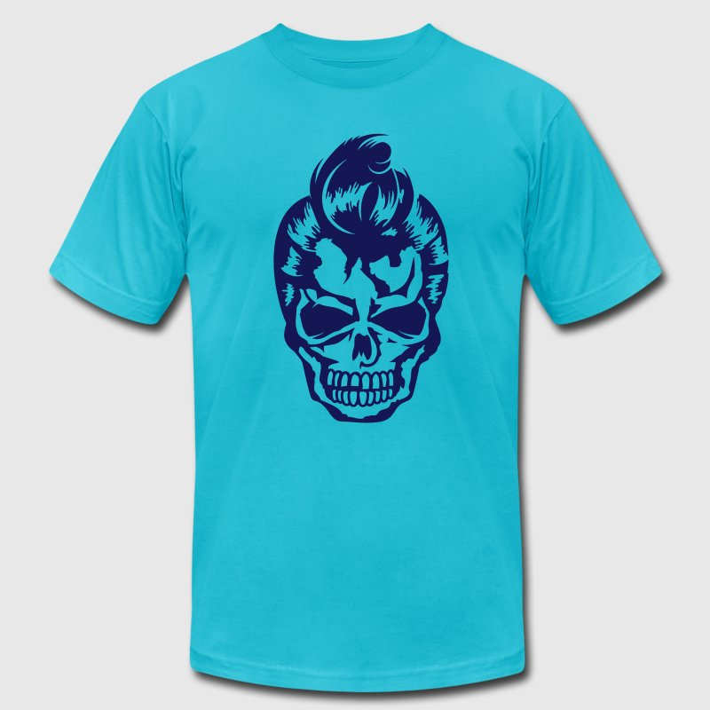 A skull with a 50s haircut - Men's Fine Jersey T-Shirt