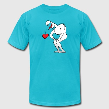 Man Vomiting the Love Heart - Men's Fine Jersey T-Shirt