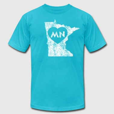 I Love Mn Used I Love Minnesota - Men's Fine Jersey T-Shirt