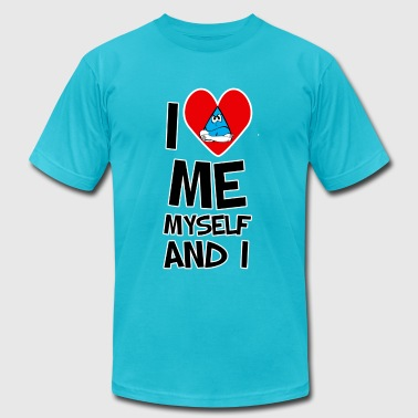 I Love Me myself and I - Men's Fine Jersey T-Shirt