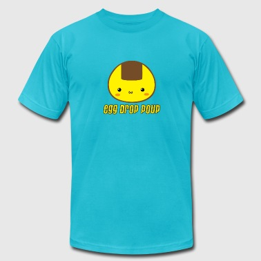 Pooping Asian Egg Drop Poup - Men's Fine Jersey T-Shirt