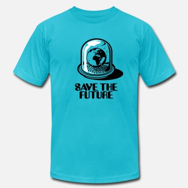 Globe Save The Planet World Snow Globe - Save the future 2c - Men's  Jersey T-Shirt