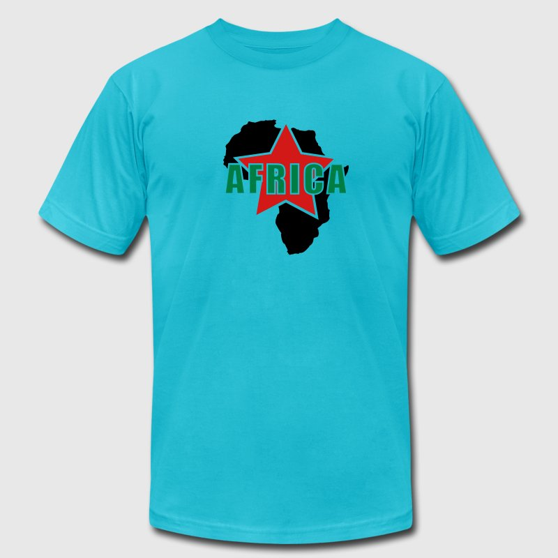 Africa Red Star - Men's Fine Jersey T-Shirt