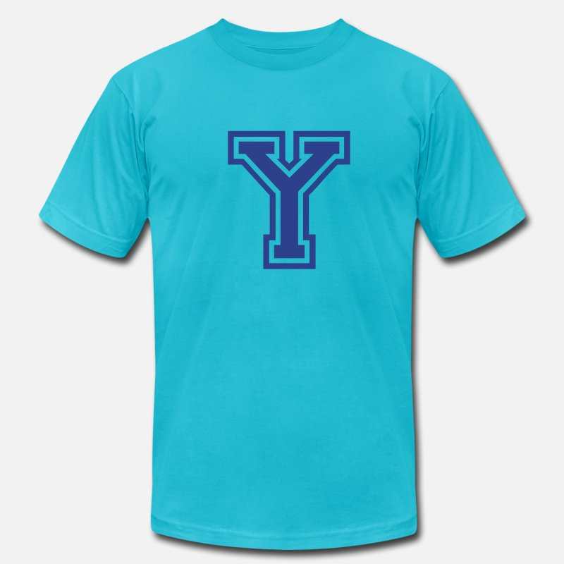 Letter Y T-Shirts - Letter Y - Men's Jersey T-Shirt turquoise