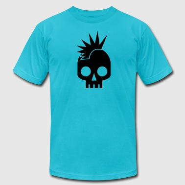 Loose Cannon cool skull shape skulls emo with mowhawk - Men's Fine Jersey T-Shirt