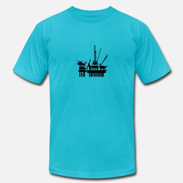 Oil Rig offshore oil rig (1c) - Men's  Jersey T-Shirt