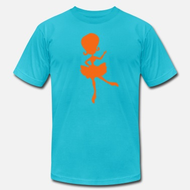 Beehive Kids pretty dancing ballerina girl - Men's Fine Jersey T-Shirt