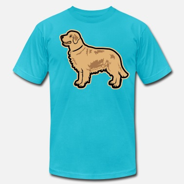 Custom Dog Breed DOGS - Golden Retriever Breed - Men's  Jersey T-Shirt