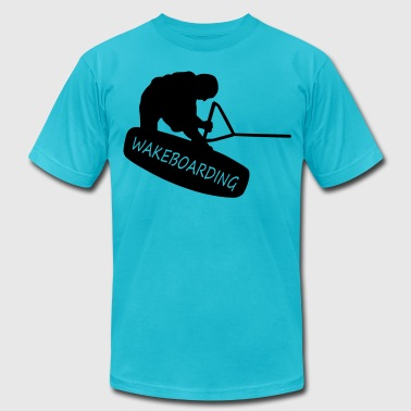 wakeboarding - Men's Fine Jersey T-Shirt
