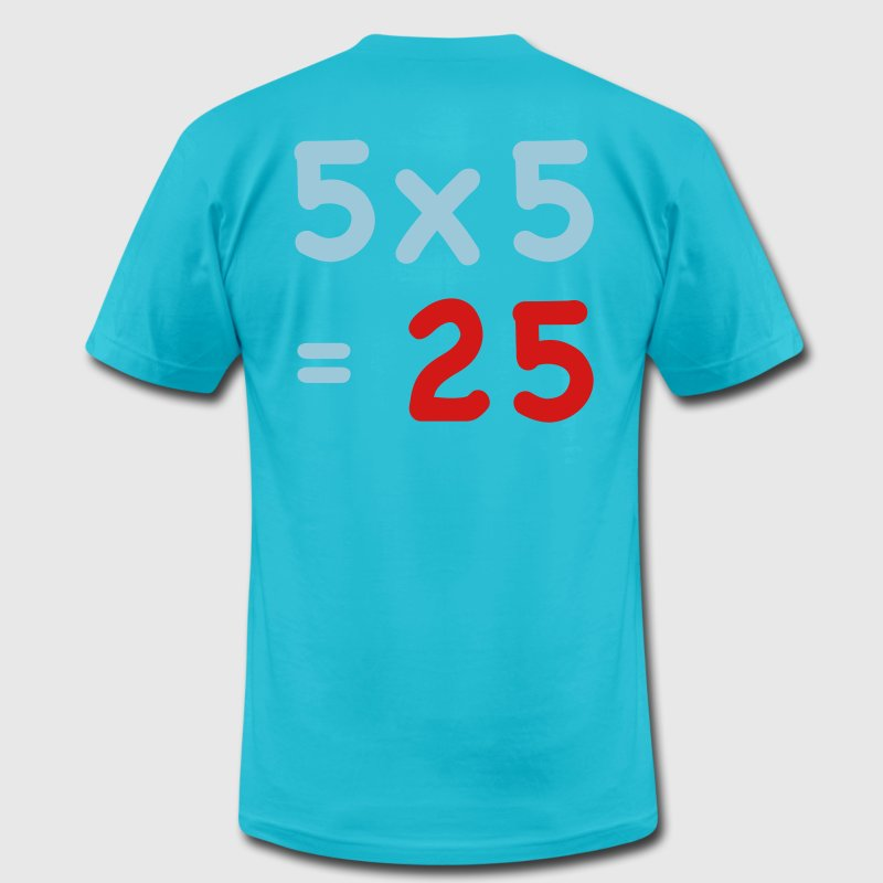 MATHS Mathematics SUM table - Men's Fine Jersey T-Shirt