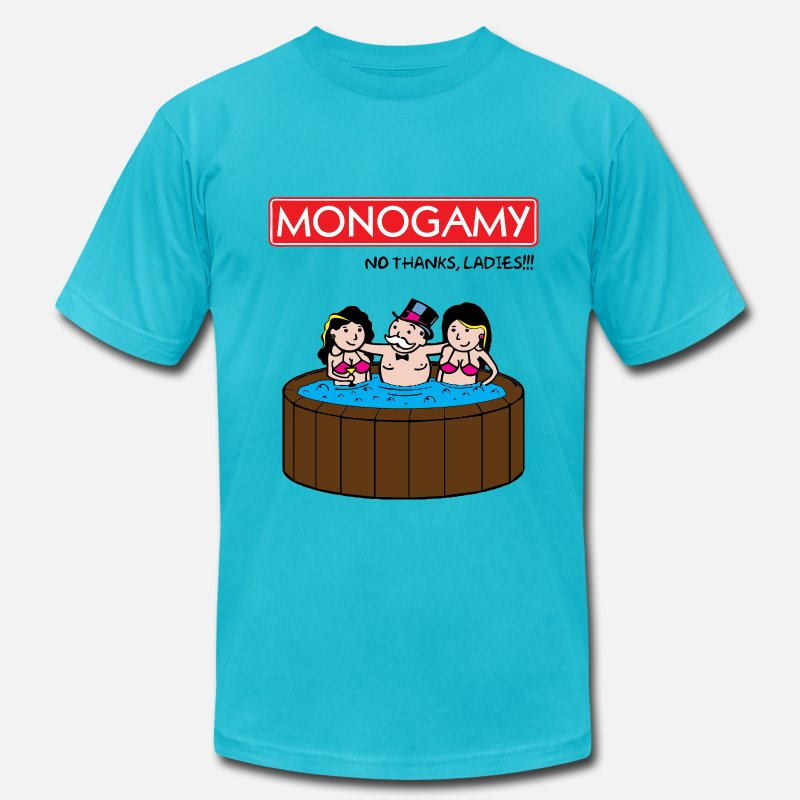 Monopoly T-Shirts - Monogamy 2 - Men's Jersey T-Shirt turquoise
