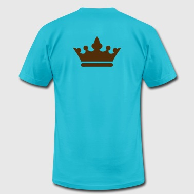 simple royalty prince princess king queen crown - Men's Fine Jersey T-Shirt