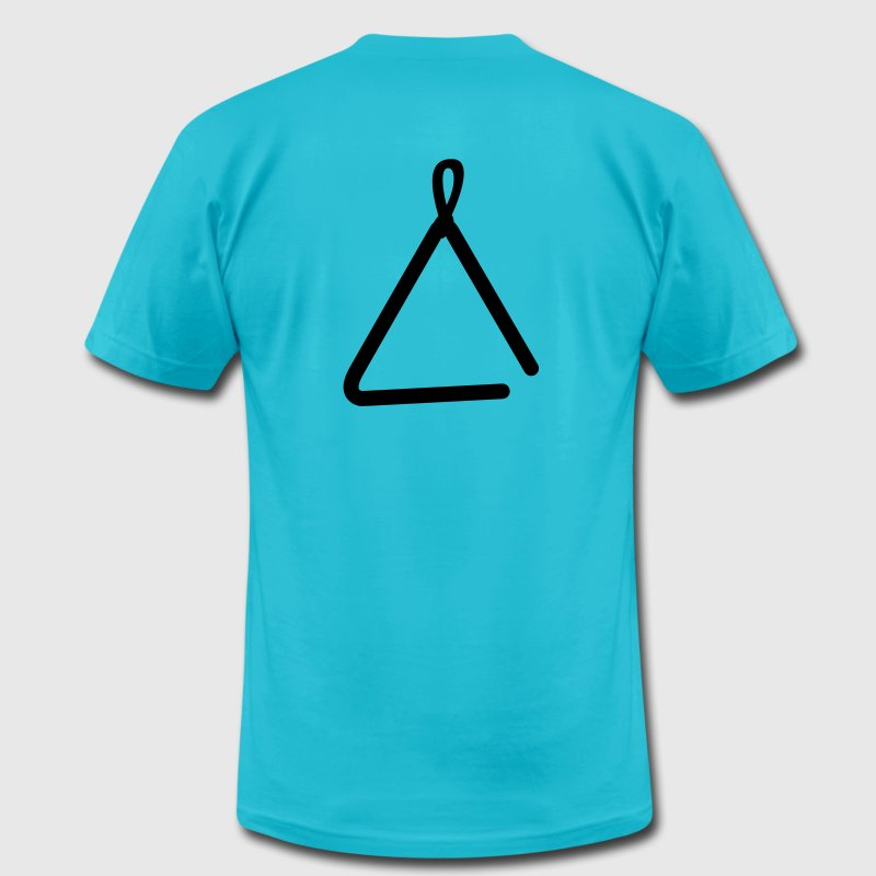 musical triangle simple instrument - Men's Fine Jersey T-Shirt